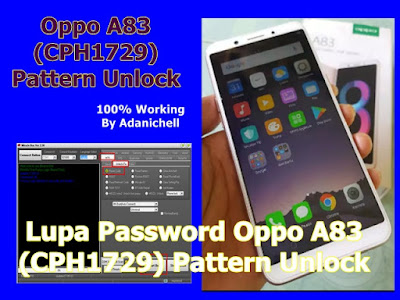 Lupa Password Oppo A83 (CPH1729) Pattern Unlock