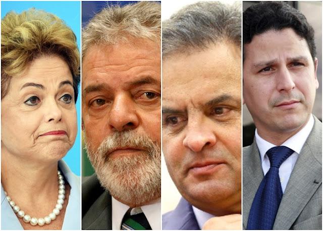 BRASIL: Ministros de Temer, Lula, Dilma e Aécio são citados na lista de Procurador-Geral da Republica.