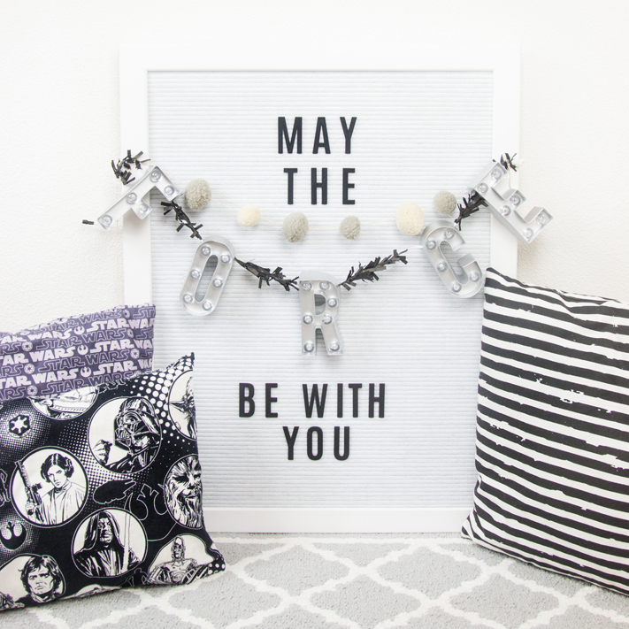 Star Wars inspired letterboard marquee great for parties or home decor by @createoften for @heidiswapp