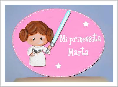 placa de puerta infantil princesa Laia Star Wars babydelicatessen