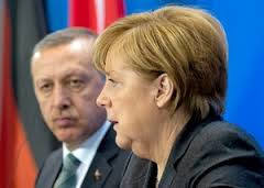 Erdogan and Merkel, Going Postal