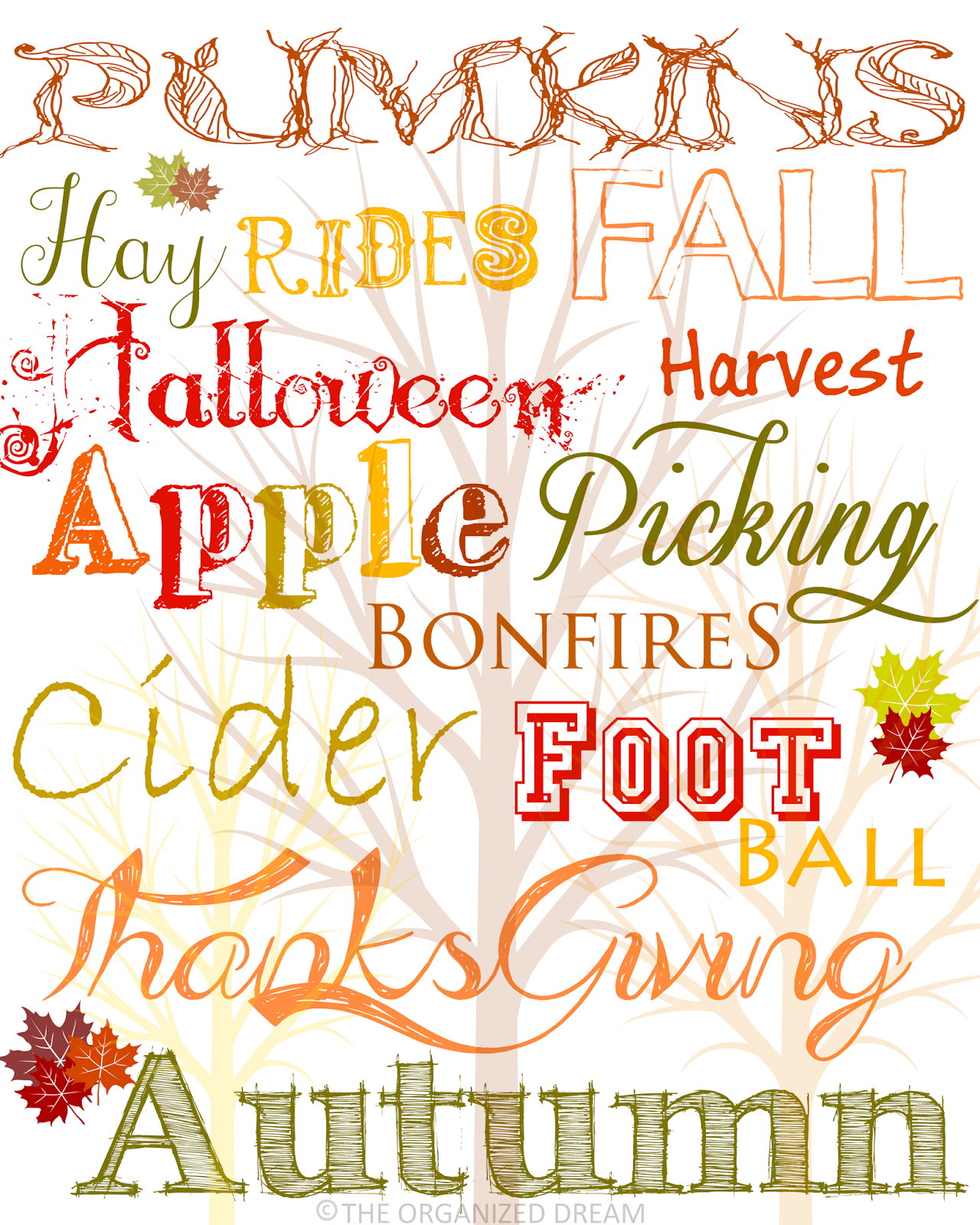 Free Fall Printables Part 2 Print Amp Decorate