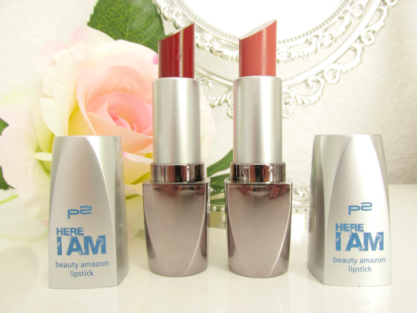 p2 Here I am - Beauty Amazon Lipsticks 010 dynamic rosewood und 030 strong russet