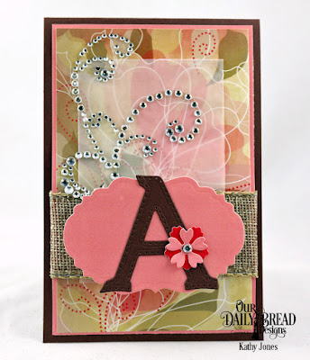 Our Daily Bread Designs Custom Dies: Letter A, Bitty Blossoms, Vintage Label, Paper Collection: Beautiful Blooms