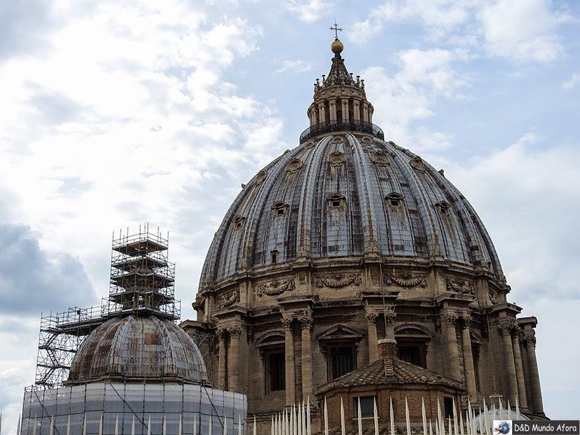 Cúpula da Basílica São Pedro - Diário de Bordo: 3 dias em Roma