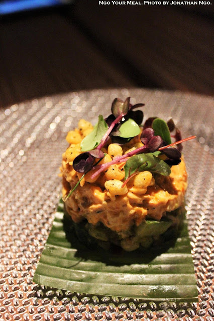 Kolhapuri Chicken, Peanuts, Cucumber, Tomatoes, Avocado at Indian Accent