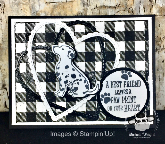 Card, Happy Tails, Dog Builder Punch, Buffalo Check