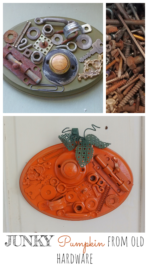 Junky Pumpkin Made From Old Hardware