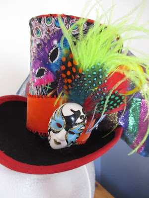 Brightly Coloured Top Hat with mask
