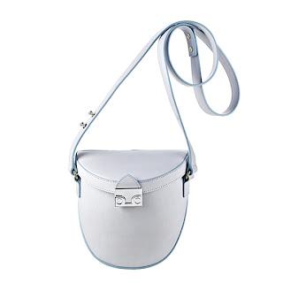 Loeffler Randall Shooter Bag with powder blue trims - $350