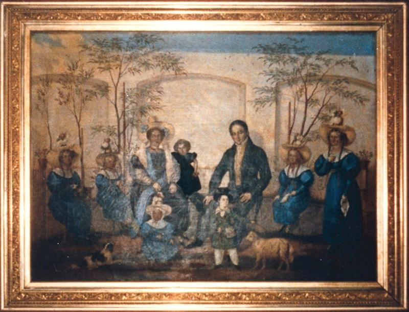 Familie Ostermayer in Deutschland. Gemälde, 1833