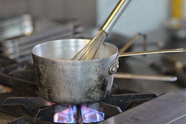 a fuego lento en la cocina de la abuela