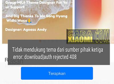 Cara Mudah Pasang Tema Mtz di Xiaomi MIUI 7/8/9 No Root Tanpa Daftar MIUI Designer