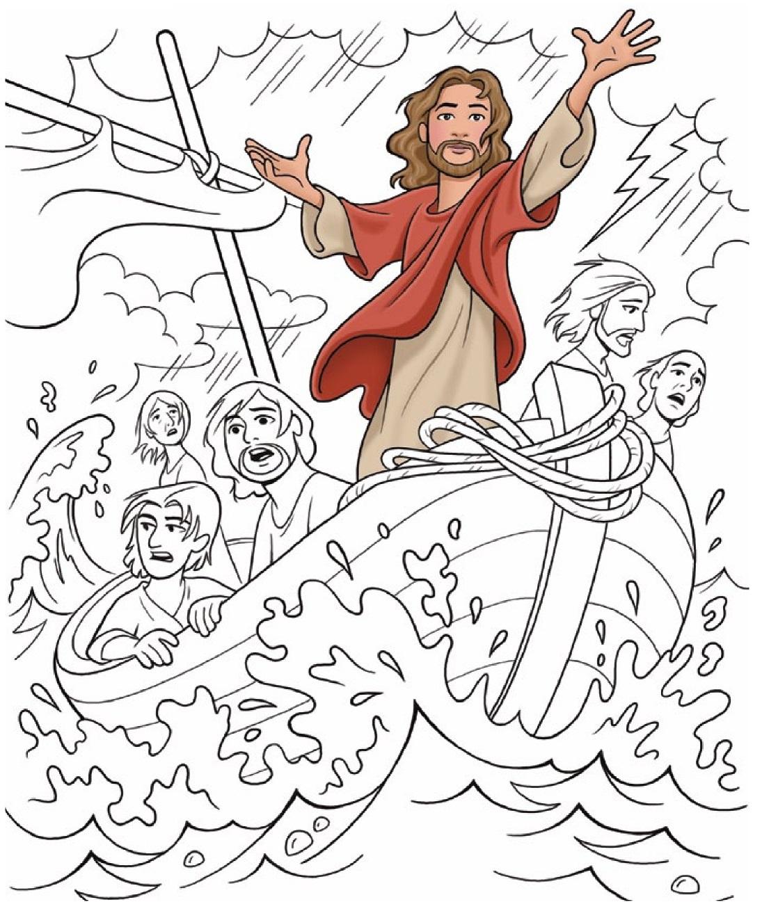 Sekolah Minggu Kreatif Saya Punya Tuhan Yesus Markus 4 35 41