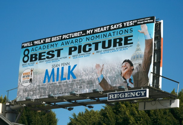 Milk movie Oscar nominee billboard