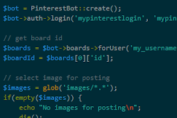 Membuat Script Auto Pin Pinterest Bot PHP