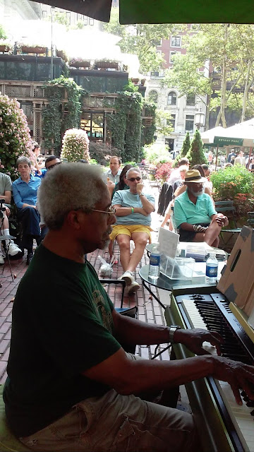 Pianist Roy Eaton will be playing at Bryant Park, NYC for week of September 23