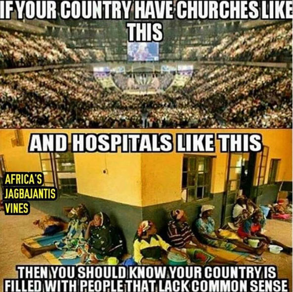 Freeze draws line of comparison between Nigerian churches and hospitals