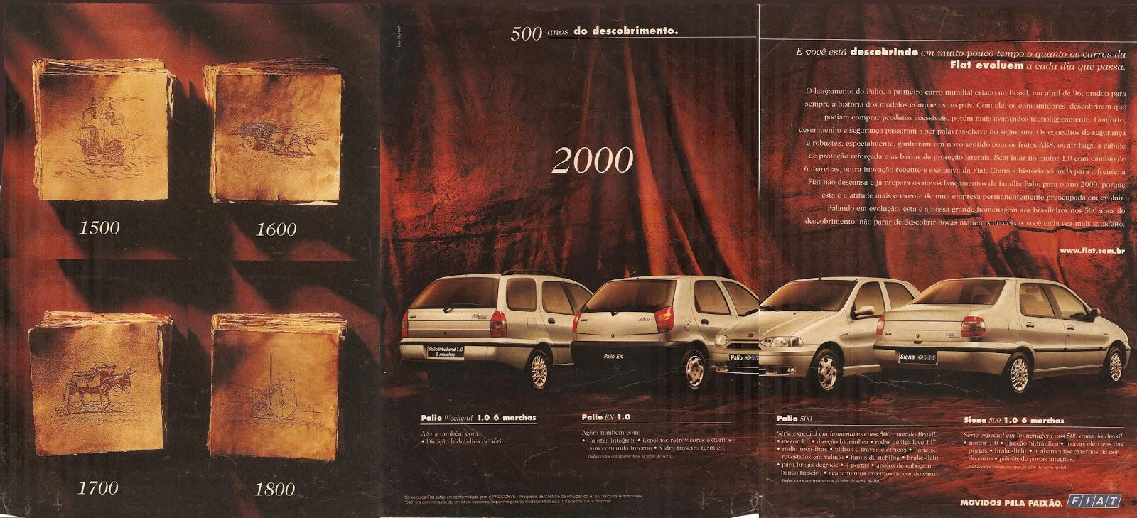 Campanha da Fiat em comemoração aos 500 anos do Descobrimento do Brasil comemorados no ano 2000