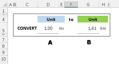Convert Unit to Unit - Ms Excel
