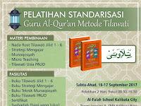 Al Falah Gelar Pelatihan Standarisasi Guru Qur'an Metode Tilawati
