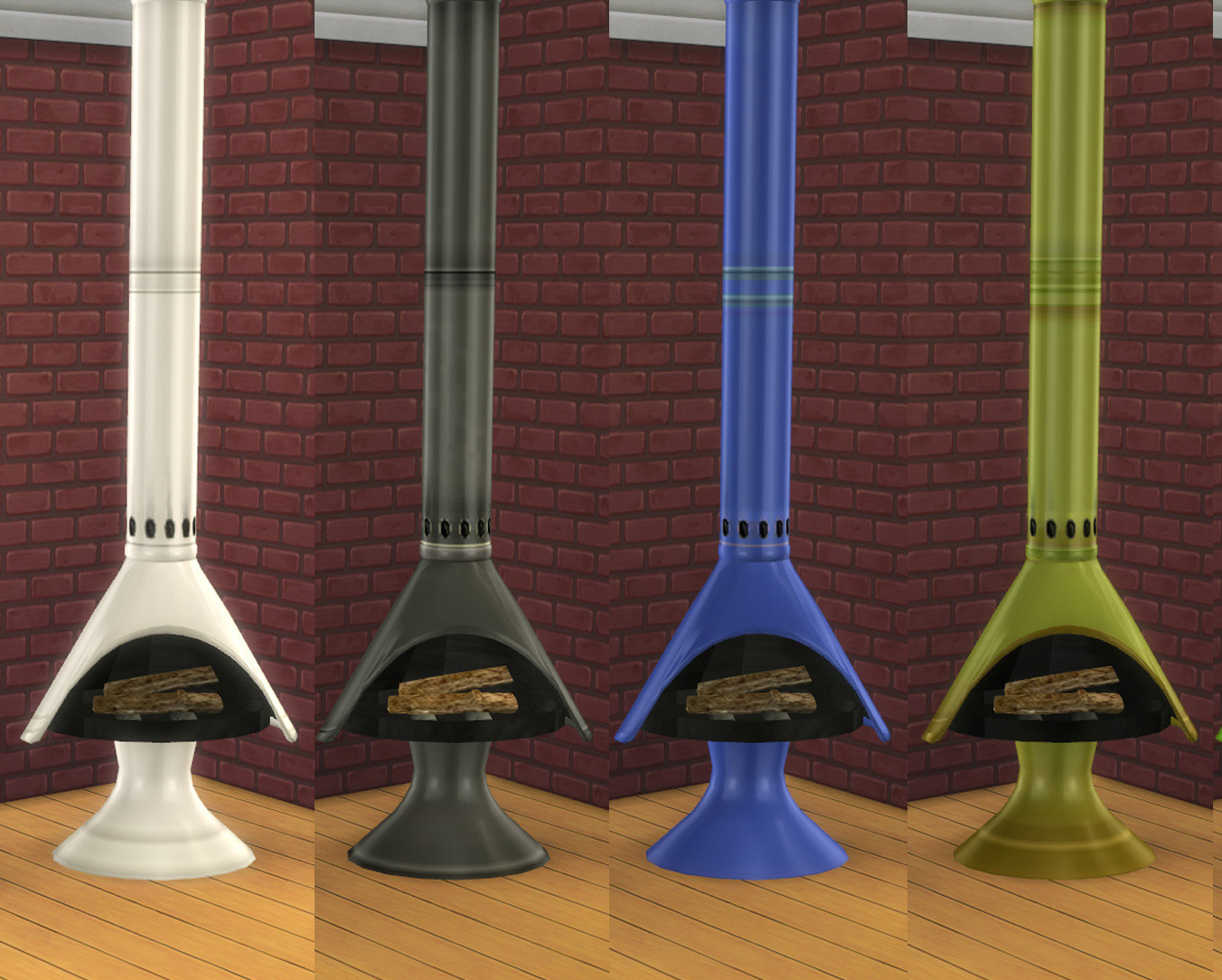 My Sims 4 Blog: TS2 to TS4 - Retro Fireplace by LOolyharb1
