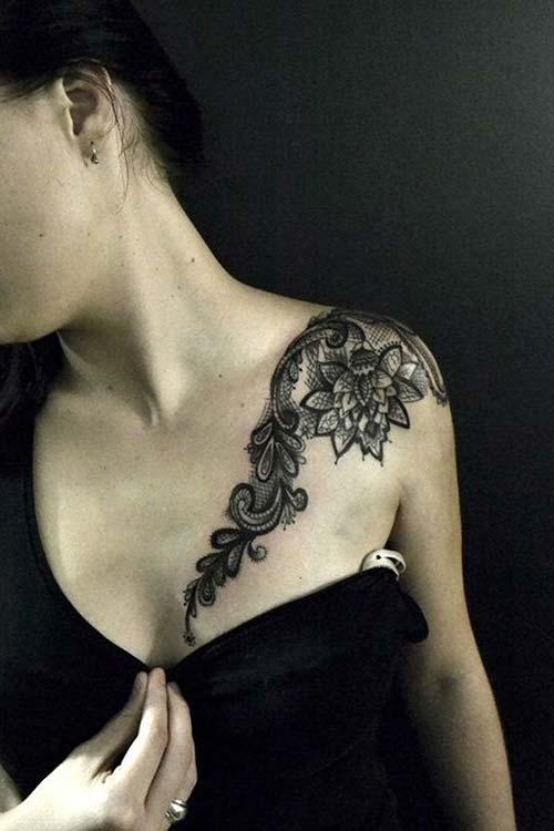 dantel dövmeleri lace tattoos 11