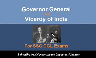 Governor General and Viceroy of India (Complete Notes)
