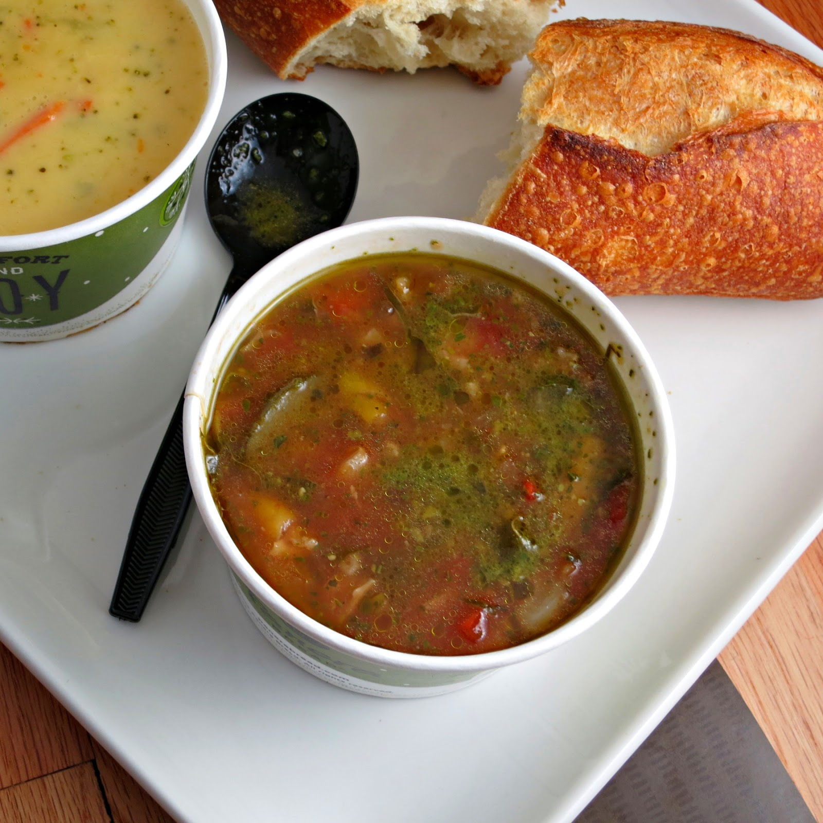Charmant Hands Down My Favorite Soup Was The Garden Vegetable Pesto. So Many  Delicious Fresh Vegetables, Including Swiss Chard, Chunks Of Zucchini, And  Bell Peppers, ...