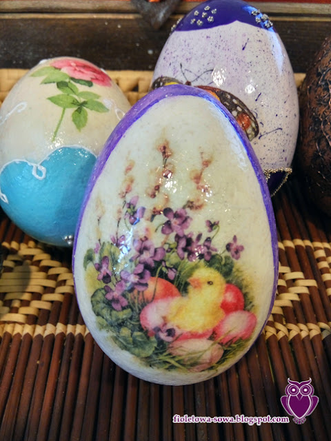 purple egg decoupage