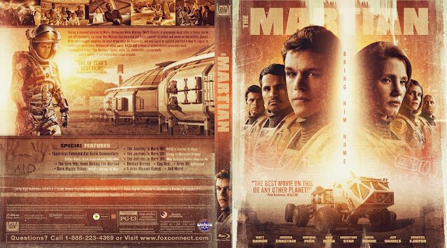 The Martian Bluray Cover