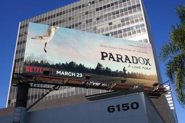 Paradox A loud poem film billboard