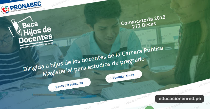 PRONABEC: Inscripción de becas para hijos de los docentes de la Carrera Pública Magisterial para estudios de pregrado - www.pronabec.gob.pe