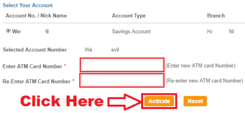 how to activate your sbi debit card online