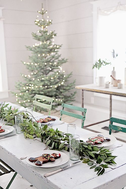 Romantic Farmhouse Christmas holiday table by Dreamy Whites