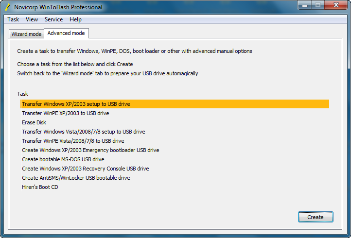 Download Novicorp WinToFlash Crack