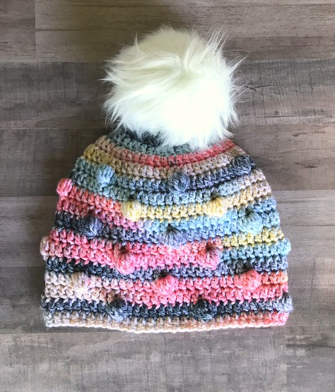 Free Crochet Hat Pattern The Bobble Hat Thefriendlyredfox