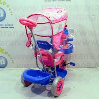 family lebah bintang sepeda roda tiga anak