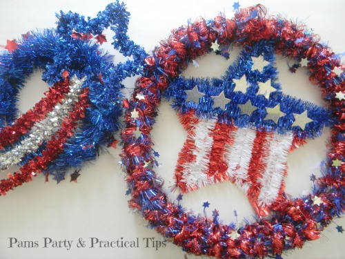 Quick Easy Dollar Store Patriotic Wreath Craft
