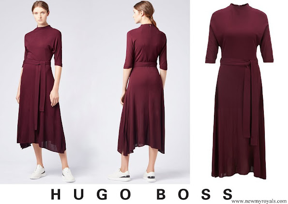 Meghan Markle wore HUGO BOSS Eodora dress