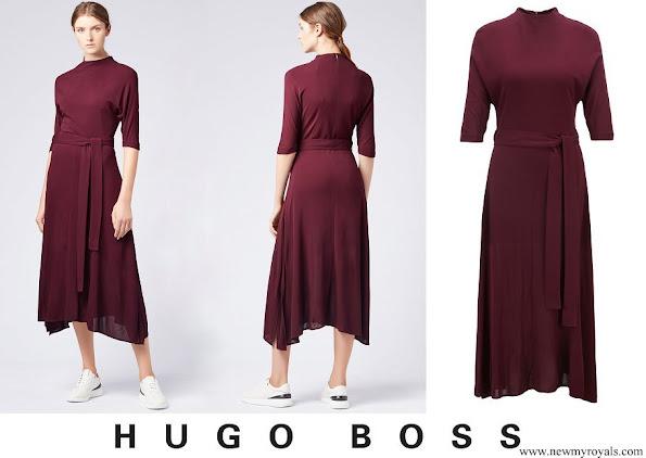 Meghan Markle wore HUGO BOSS Eodora dress