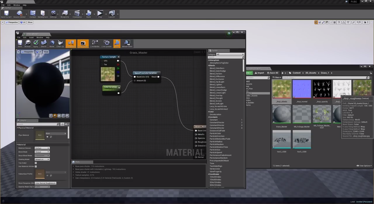 Creating Grass with Color Variation in UE4 | CG TUTORIAL