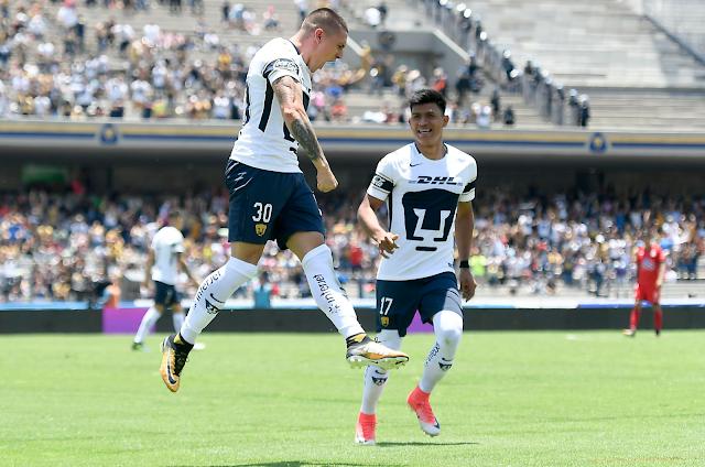 Pumas venció 2-0 a Lobos BUAP