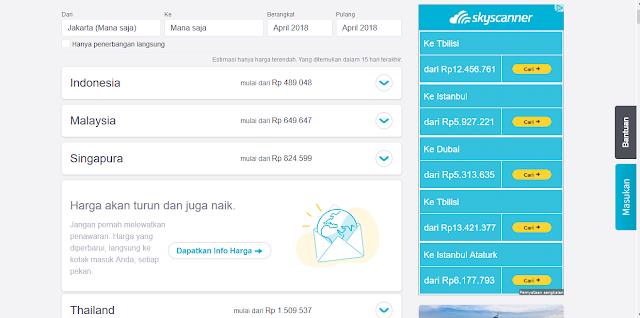 Cari tiket pesawat murah di Skyscanner