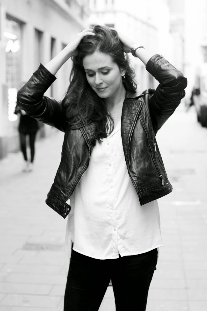 leather biker jacket outfit