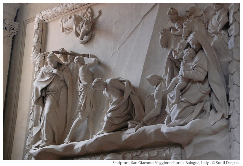 Art and sculptures in San Giacomo church, Bologna - Photo by Sunil Deepak