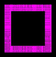 Moldura quadrada xadrez rosa - criação Blog PNG-Free