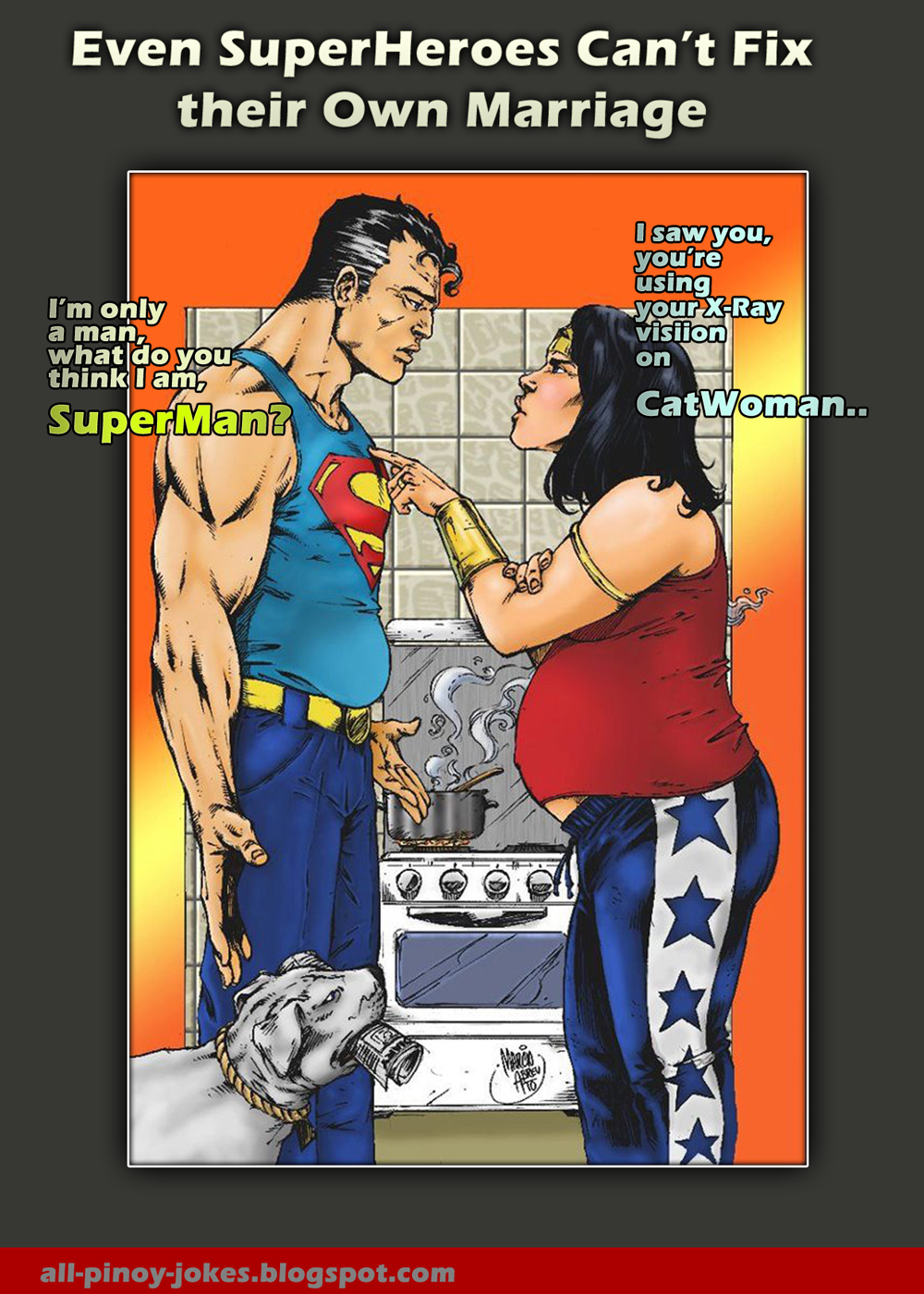 Wonder Woman And Superman In Love