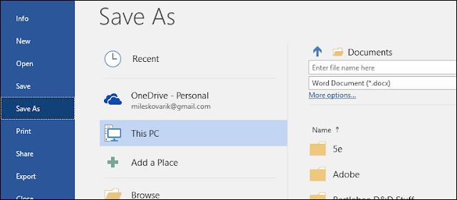 كيفية تحويل ملف الوورد Word الى PDF بكل سهولة