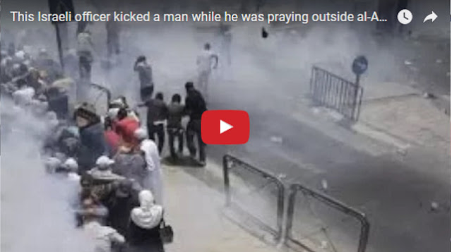 Dzalim! Ini Video Muslim Palestina yang Lagi Sholat Ditendang Polisi Israel, Tiga Tewas
